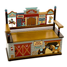 wild west toy box bench and luxury kid furnishings including