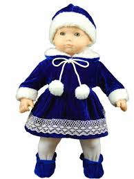 blue velvet doll clothes outfit fits 15 american girl bitty baby