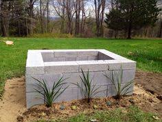 Building Outdoor Fireplace With Cinder Blocks by Cinder Block Fire Pit 50 In Materials Diy Pinterest