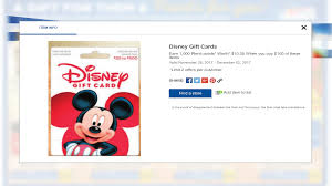 disney gift card sale at rite aid points to neverland
