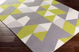 Yellow And Gray Rugs Artistic Weavers Joan Joan 6090 Fulton Lime Gray Light Gray Rug