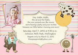 nursery rhyme birthday invitation mother goose theme