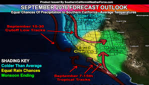 California Weather Map September 2016 Weather Pattern Forecast 2016 2017 Storm Name