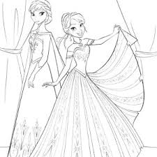 princess anna feeling lefted queen elsa coloring pages