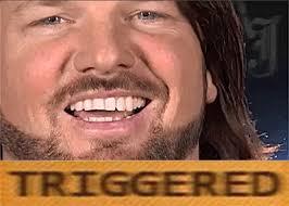 Aj Styles Memes - aj styles triggered memes imgflip