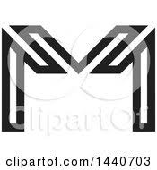 clipart of a black and white letter w design royalty free vector