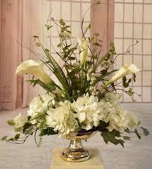 orchid centerpiece rosdorf park calla silk hydrangea and orchid centerpiece in