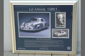 ferry porsche sold framed signed print 1951 le mans signed by ferry porsche