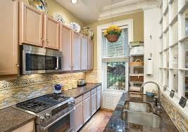Steel Tile Backsplash by Microwave Carts In Kitchen Traditional With Stainless Steel Tile