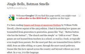 the secret true history of jingle bells batman smells