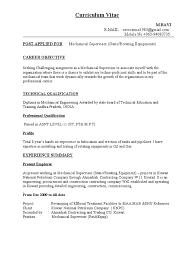 civil supervisor resume format cv for mechanical supervisor petroleum gas compressor
