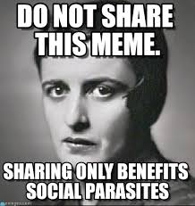 Sharing Meme - do not share this meme ayn meme on memegen