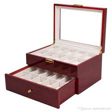 jewelry box 20 20 grids display box lacquer wood mdf multifunction watches