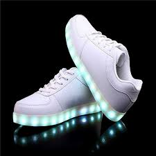 light up shoes charger usb charging led shoes white classic flashing sneakers