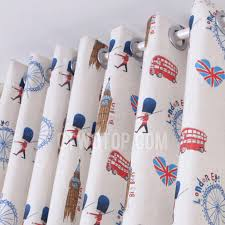 Nursery Blackout Curtains Uk Curtains Uk Linen And Cotton In And Blue Colo