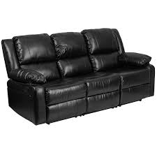 Black Leather Reclining Sofa And Loveseat Amazon Com Flash Furniture Harmony Series Black Leather Sofa With