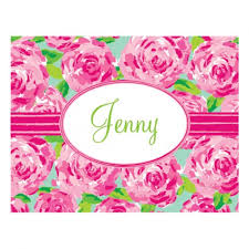 lilly pulitzer folded note cards impression