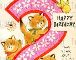 happy birthday 4 year old kitten card 12 digital download