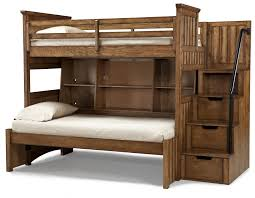 Bunk Beds  Wooden Bunk Beds With Steps Staircase Loft Bed Plans - Solid oak bunk beds with stairs