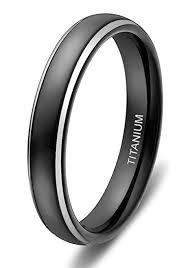 womens titanium wedding bands 4mm women s titanium wedding bands black ring with two tone