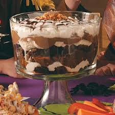 spiderweb brownie trifle resepti