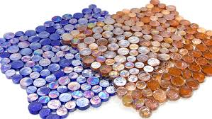random iridescent penny round mosaic 3 colors on sale tiledaily
