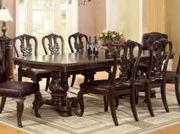 Dining Table And Fabric Chairs Bellagio Dining Room Set W Fabric Chairs Formal Dining Sets