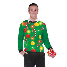 ugly christmas sweaters that light up and sing singing light up bell ugly christmas sweater spirithalloween com