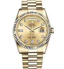 rolex day date president 36mm yellow gold with