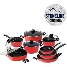 batterie de cuisine en stoneline stoneline batterie de cuisine 13 pièces en achat vente
