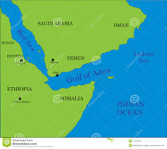 Africa On The Map by Gulf Of Aden Map Stock Images Image 10276104