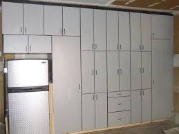Make Wooden Garage Cabinets by Decorating Build Hanging Garage Shelves With Best Ceiling Storage