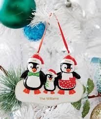 personalised penguin ornament