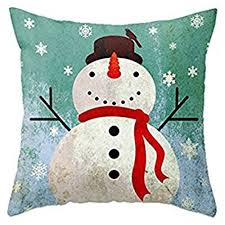 Christmas Decorative Pillow Cases by Throw Pillow Cover Onker Cotton Linen Square Decorative Throw