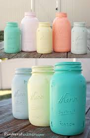 Mint Green Bathroom Accessories by Chalk Paint Mason Jar For Makeup Brushes In Vanity Use Chevron
