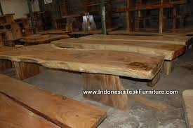 Big Wood Dining Table Live Edge Table With Legs Facing Perpendicular To One Another Http