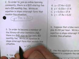 slope intercept form word problems lessons tes teach