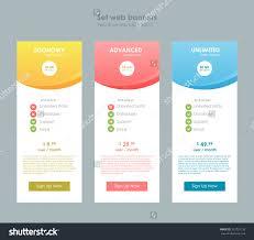 Table Ux by Three Tariffs Interface Site Ui Ux Stock Vektor 323725133
