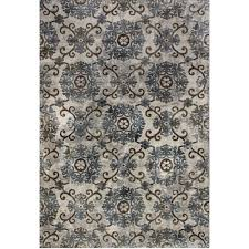 Soft Area Rugs Dynamic Rugs Royal Treasure Soft Blue Mocha 2 Ft X 3 Ft 5 In