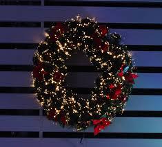 poinsettia white indoor outdoor halo fibre optic wreath