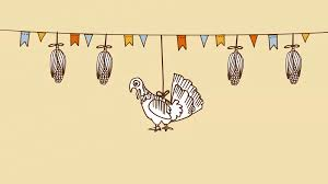 thanksgiving day video thanksgiving day background with hand drawn corn turkey and party