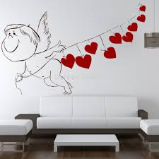 compare prices on home decor wall murals online shopping buy low love cupid heart romantic valentine wall art sticker decal diy home decoration decor wall mural removable