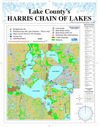 Eustis Florida Map by Harris Chain Of Lakes