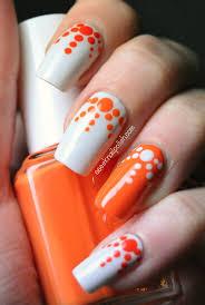 18 pretty orange nail designs pretty designs