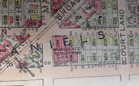Map Toledo Ohio by 1930 Darby Immaculate Conception Church Toledo Ohio Atlas Map 23
