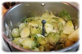 cuisiner choux de bruxelles frais purée choux de bruxelles les folies de christalie ou quand la