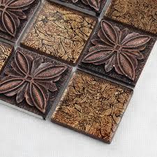 Brown Glass Tile Backsplash by Glass Tile Brown Glass Mosaic Tiles Crystal Glass Tile