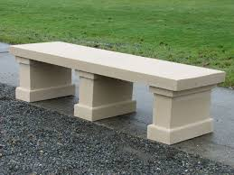 concrete garden bench materials inspiring home ideas