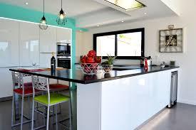 cuisine design toulouse toulouse cuisine schüller glassline blanc brillant plan de travail