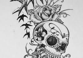 skull designs roses and sugar skull tattoos for